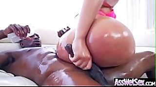 (assh lee) floozy cheating BBC slut with big oiled arse get ha...