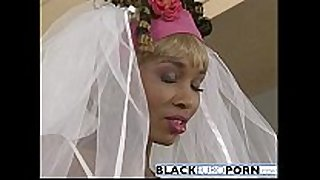 Ebony bride gets pounded by superlatively worthwhile fellow white dong
