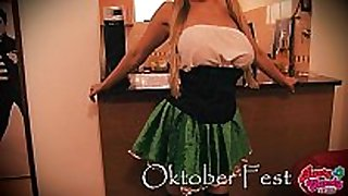 Busty candy celebrating oktober fest! busty big...