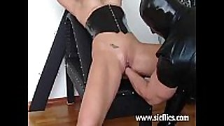 Busty blond thrall brutally fisted till that hottie squirts