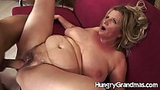 Hairy granny vagina for younger stud