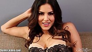 Sunnyleone striptease on the daybed