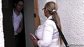 Dani - door-to-door salesgirl scores herself a ...