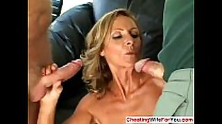 Slutty mature black dong bitches get double facial