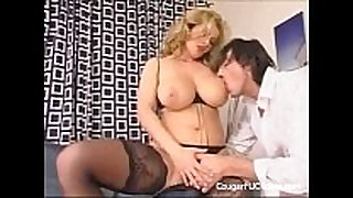 Big titted cougar gets her slit screwed hard
