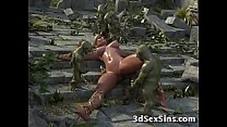 3d elven princess group-fucked!