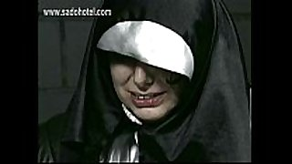 Naughty nun entreats for forgiveness but is spanked...