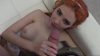 Redhead Russian girl gets fucked hard by Italian stallion