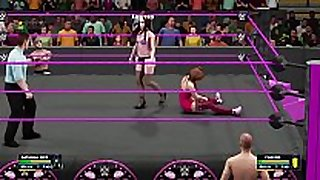 Wwe 2k18 natasha admirable w/mr marcus vs chavon wst...